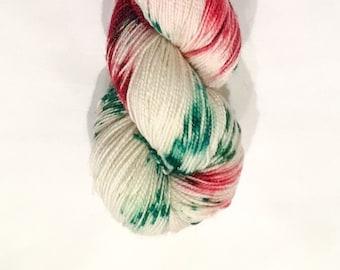 Hand Dyed Sparkle Sock Yarn, Knitting Yarn, Merino Wool Nylon Stellina 70/25/5 blend, 100g/462 yards