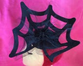 Black Felt Spider Web - s...