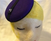 Purple Wool Felt Button F...