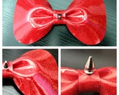 Red Sparkle Vinyl Bow wit...