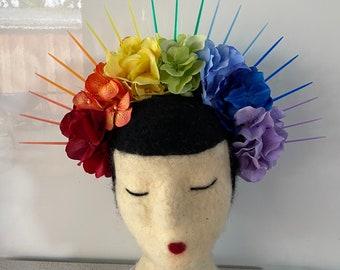 Rainbow Spike Crown with Hydrangeas