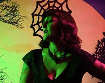 Felt Spider Web Fascinator