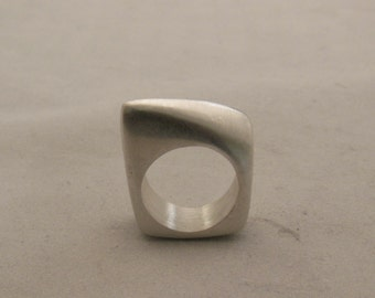 Silver lost wax cast one of a kind ring  size 5 1/2