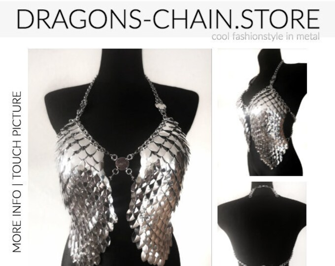 Featured listing image: Dress chain bra 'Wings with Chain'