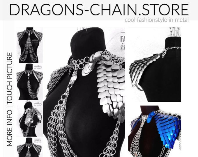 Featured listing image: Shoulder chain bra scale - Cool FASHIONSTYLE in metal