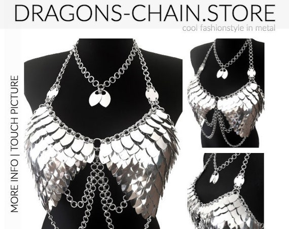 Dress chain bra 'Wings with Chain'