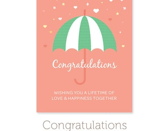 printable wedding shower card instant download printable wedding card pdf congratulations card a2 card 425 x 55