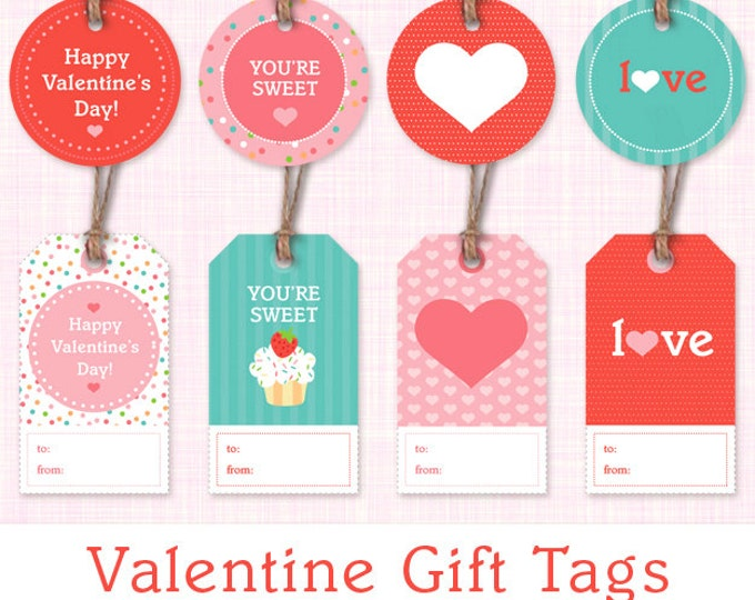 Cupcake Birthday Gift Tags Instant Download Printable Gift Labels