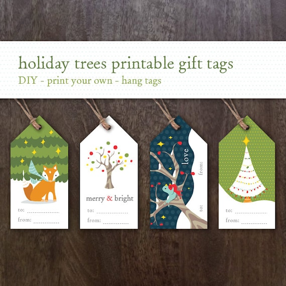 printable holiday gift tags printable christmas gift tags etsy