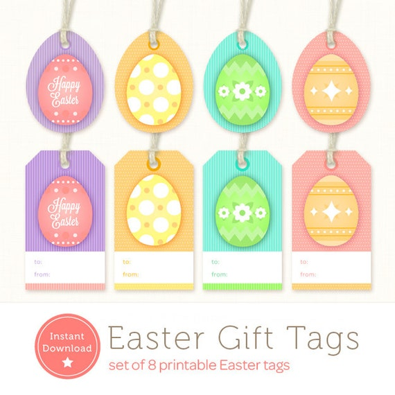 graphic relating to Printable Easter Gift Tags named Printable Easter Tags - Easter Present Tags - Instantaneous Obtain Easter Egg Tags