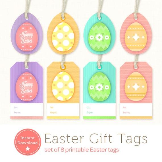 image regarding Printable Easter Tag named Printable Easter Tags - Easter Present Tags - Immediate Down load Easter Egg Tags