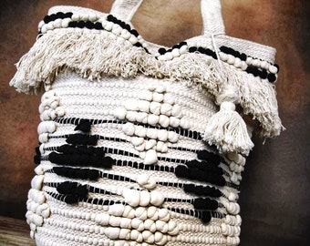 Shoulder Bags Obedient Bohemian Beach Tassels Straw Women Bucket Handbag Summer Small Tote Shoulder Bags Lady Travel Beach Retro Summer Tote Bags Women's Bags