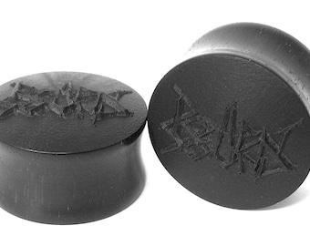 Rotten Sound Handmade Wooden Ear Plugs Grindcore Gauges Stretchers