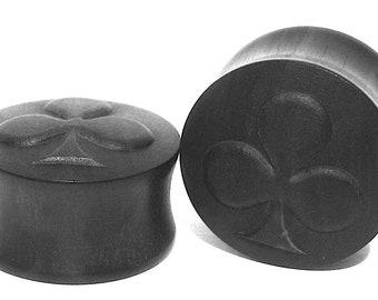 4 Colour Cards Organic Ear Plugs/Gauges size 10mm-40mm