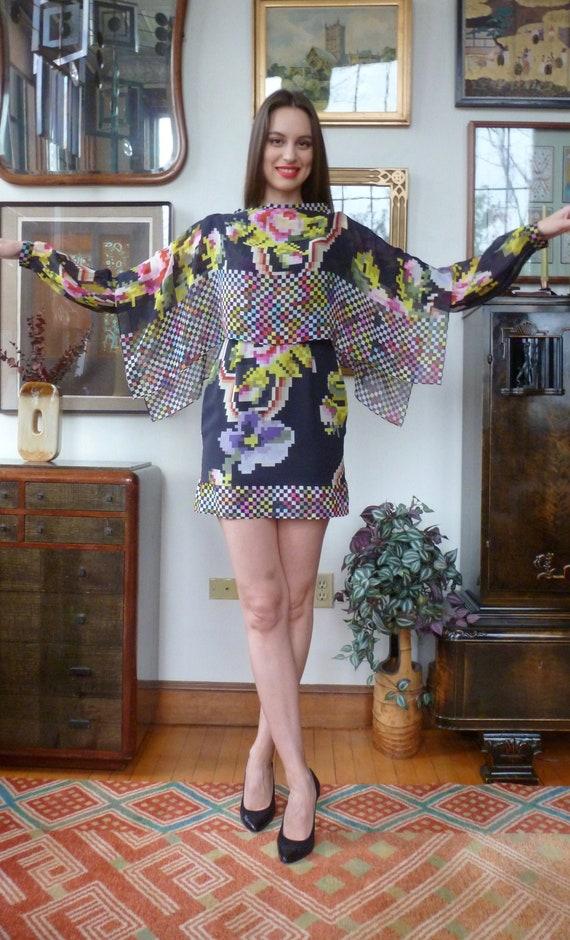 Matthew Williamson Mini Dress Floral Graphic Desig