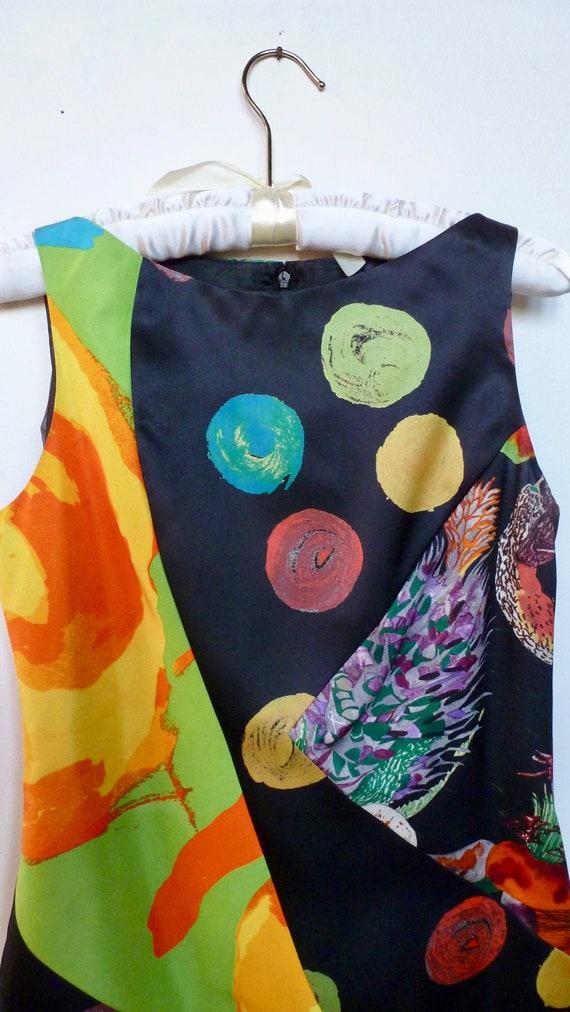 Christian Lacroix Silk Dress Sleeveless Neon Brigh