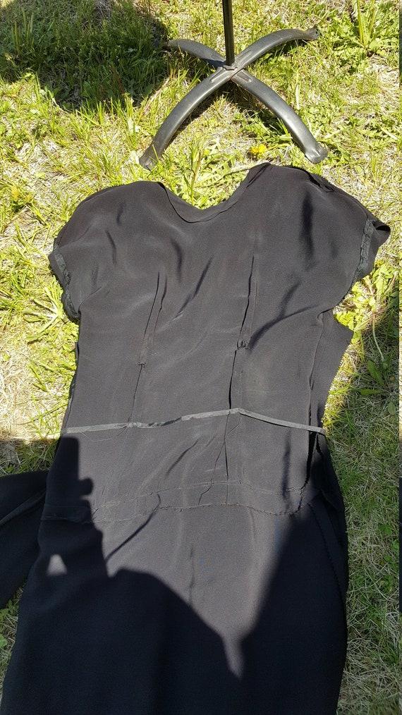 Vintage 1940s Black Cocktail/Evening Dress - image 8