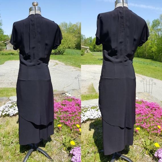 Vintage 1940s Black Cocktail/Evening Dress - image 2