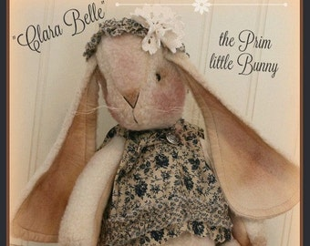 Primitive Bunny Pattern Clara Belle the Prim little Bunny Primitive Pattern
