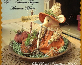 Primitive Mouse Pattern Lil' Harvest Thyme Meadow Mouse n' Pumpkins Halloween Pattern