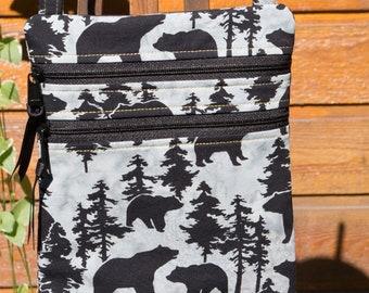 spirit bear black bear leather tassel purse charm southwestern Bear keychain arrow hunter key chain gift for him western gift