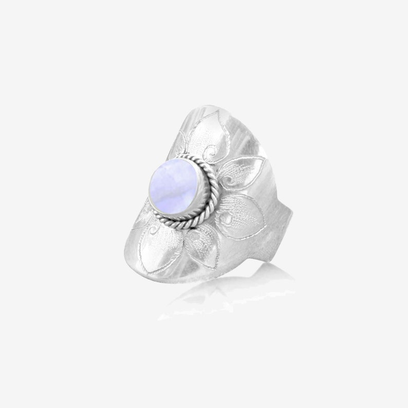 e1eb7397fd033 Rainbow Moonstone Ring, Simple, Cocktail Ring, 925 Sterling Silver Gemstone  Ring, Personalized, Engraved, Small Ring, Womens ring