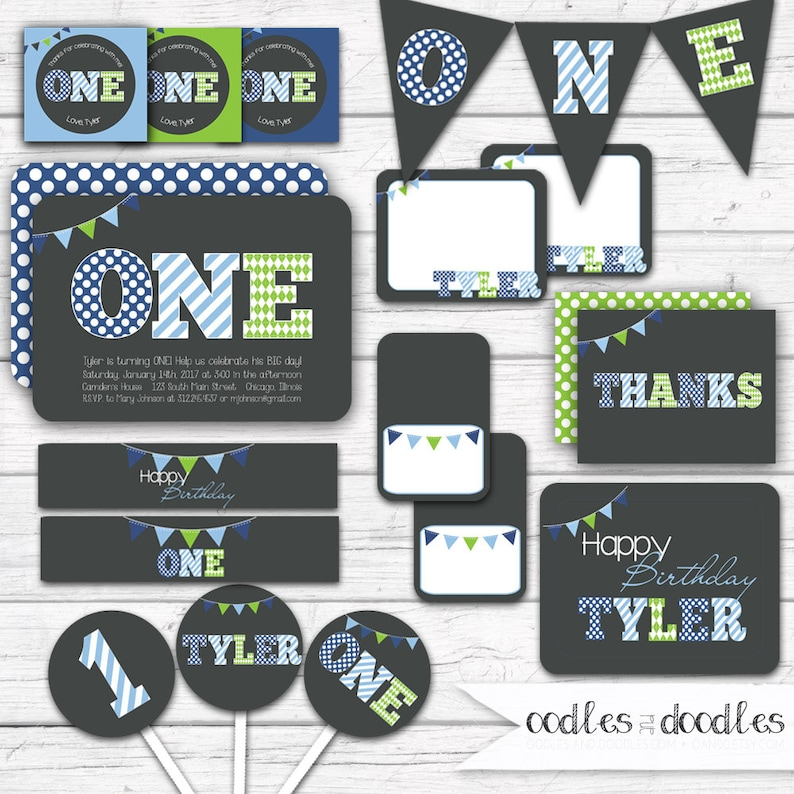 First Birthday Boy First Birthday Party Decorations Party Etsy