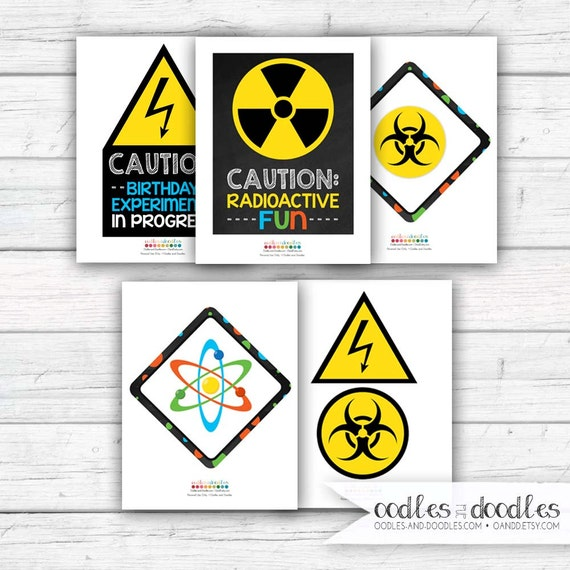 Fabulous image for printable mad science sign