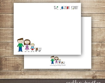 Personalized Family Stationery, Create-Your-Own Personal Stationery, Customized, Family Stationery, Printable Digital File or Printed