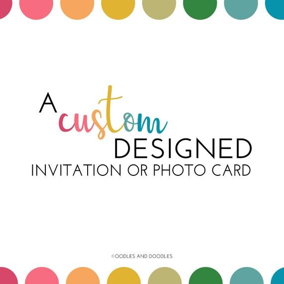 Custom Designed Invitation Design Your Own Birthday Baby Etsy