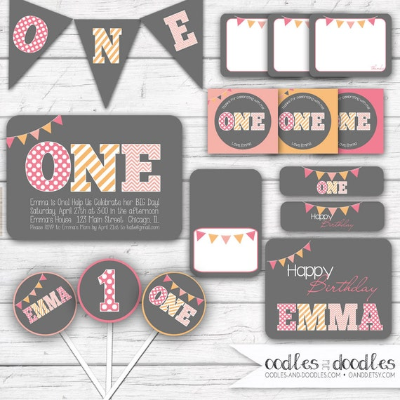 First birthday party girls 1st birthday party package etsy image 0 filmwisefo