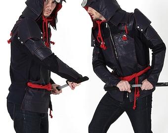 Samurai Costume-Costume Hoodie-Halloween Costume-Samurai Hoodie-Martial Arts-Armor Hoodie-Samurai Armor/Miyamoto Musashi Armor Hoodie