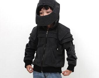 Kids Knight Hoodie-Boys Fleece Hoodie-Costume Hoodie-Hooded Sweatshirt-Knight Costume-Game Of Thrones Costume/Kid Duncan knight hoodie