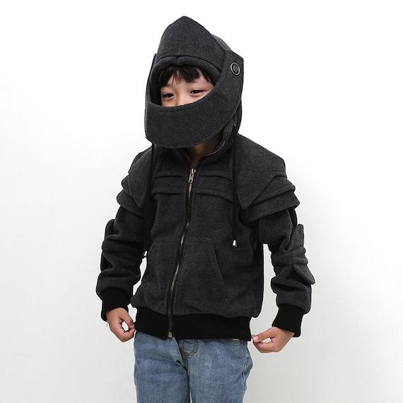 Kids Knight Hoodie Boys Fleece Hoodie Costume Hoodie Hooded Etsy