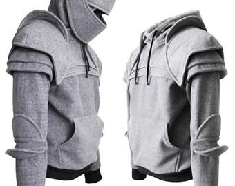 Knight Hoodie-Fleece Hoodie-Costume Hoodie-Hooded Sweatshirt-Medieval Costume-Knight Costume-Game Of Thrones Costume/Duncan knight hoodie
