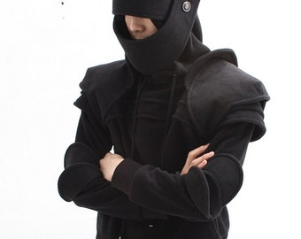Black Duncan Armored Knight Hoodie For hannes