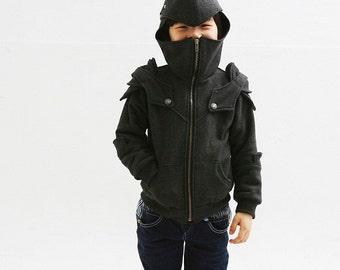 Kids Knight Hoodie-Boys Fleece Hoodie-Costume Hoodie-Hooded Sweatshirt-Medieval Costume-Knight Costume-Game Of Thrones Costume/Kid peter