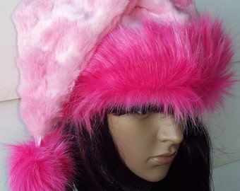 Pretty all Pink Santa hat 32a87ffa27be