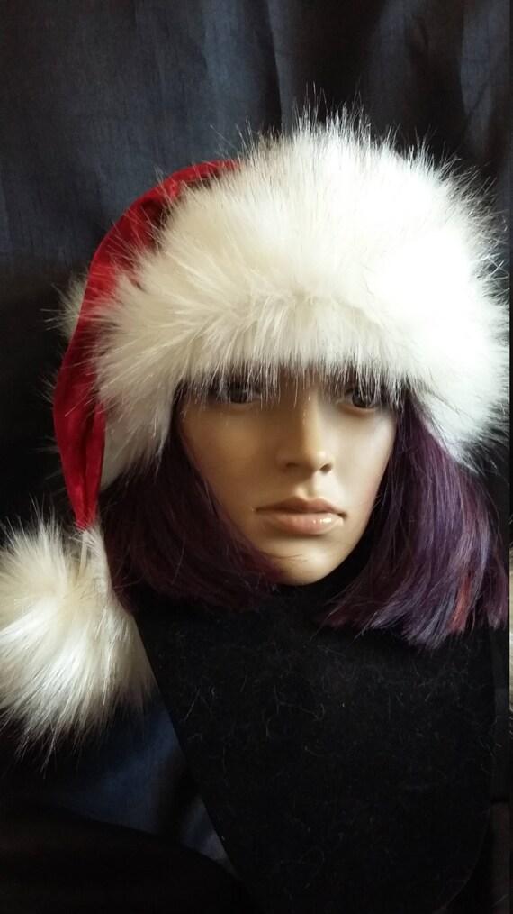 5518a6fe65b9f Red Velvet Santa hat with Luxury White trim