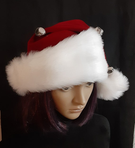 MULTI PACKS DELUXE CHRISTMAS SANTA CAPS WITH BELL NEW SANTA HATS WITH BELLS