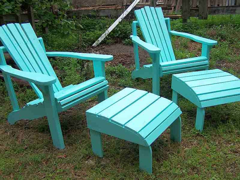 Groovy Adirondack Chair And Ottoman Made From Reclaimed Salvaged Lumber Gmtry Best Dining Table And Chair Ideas Images Gmtryco