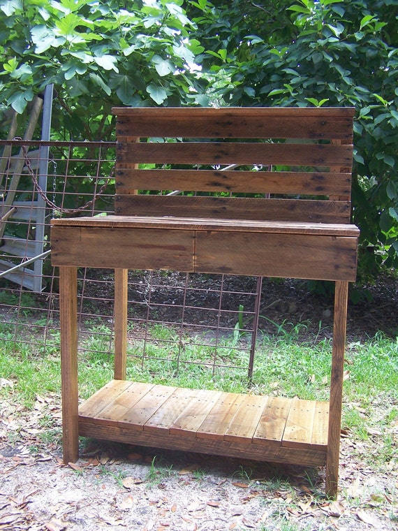 Strange The Barley Ii Planting Potting Bench Table Bar Buffet With Drawers From Recycled Reclaimed Salvaged Wood Creativecarmelina Interior Chair Design Creativecarmelinacom