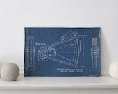 1946 Industrial Diagram Vintage Blueprint  c.1946 17 x 11 inches
