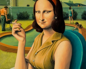 """Mona Lisa  - Strictly Respectable - 15"""" x 19.5"""" Archival Pigment Print (limited edition of 150)"""