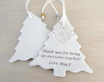 Personalised Christmas tree ornament. Christmas tree decoration. Teachers gift. Gift for teacher