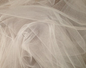 White Bridal Tulle Fabric (by the yard)