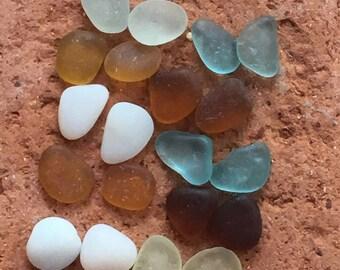 Earring Pairs, Genuine Sea Beach Glass, Beads, 10mm, Beachy, Tribal, Artisan, Vintage, Gemstones, Sea Glass, Matching, UV, Uranium Glow