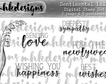 Sentimental Lily Digital Stamp Set