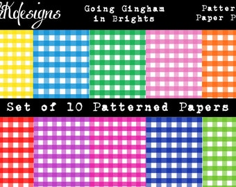 Going Gingham in Brights Digital Paper Pack