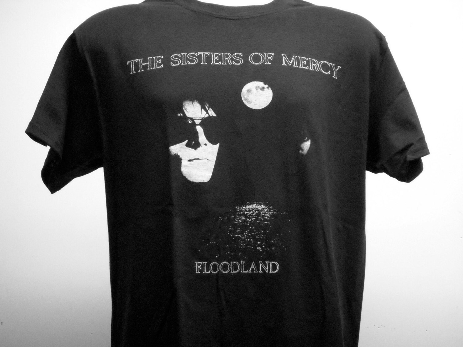 Black NEW /& OFFICIAL! The Sisters Of Mercy /'Floodland/' Womens Fitted T-Shirt